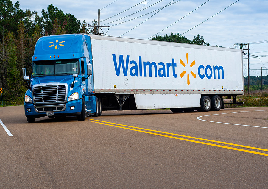 Walmart Semi Truck Turning